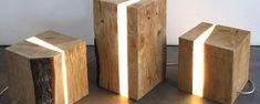 Tischlampe / originelles Design / für Innenbereich / Holz B30 B40 B50 by Marco Stefanelli trecinquezeroluce