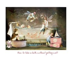 How to take a bath  Art Print or Ready to hang Plaque