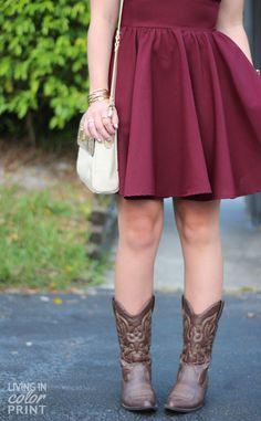 Garnet Skater Dress
