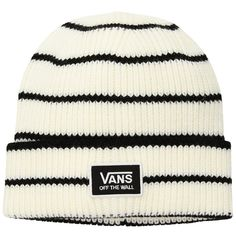 91de1193709 Vans Falcon Beanie (Marshmallow Black) Beanies (€21) ❤ liked on Polyvore  featuring accessories