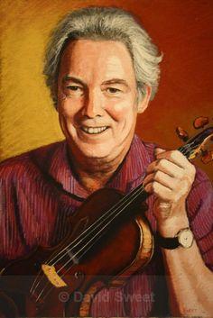 Ian - Adult Portraits Musical Instruments, Violin, Musicals, Portraits, Paintings, Music Instruments, Paint, Head Shots, Painting Art