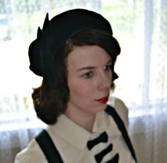 1940's Beret pattern. Seamstress: Anthea. Pattern: Depew 1028 (http://mrsdepew.com/hat-patterns/french-beret-and-ornaments.html)