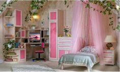 Soft pink kids bedroom furniture