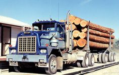 Dodge logging truck.
