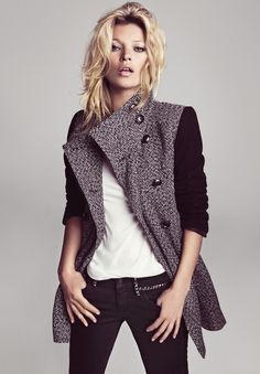Kate Moss by Inez & Vinoodh for Mango Winter 2012