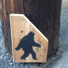 Sasquatch-a-Courtin' street art.