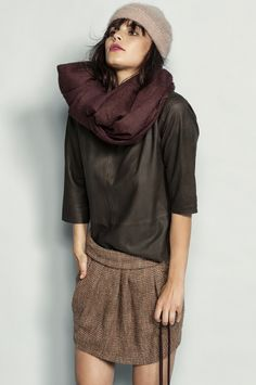 NOMA › goat leather TOPS › colour coffee