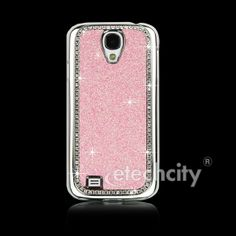 pink bling Case Galaxy S4 | Metal Plated Glitter Bling Chromed Case for Samsung Galaxy S4 i9500 ...