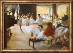 オールポスターズの エドガー・ドガ「バレエ教室(らせん階段のある踊りの稽古場)」高画質プリント