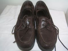 CLARKS Active Air Men's Leather Boat Shoes Size 9 1/2 Brown  #Clarks #BoatShoes