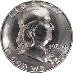 1954-P 50c United States Liberty Bell Gem Proof Franklin Silver Half Dollar