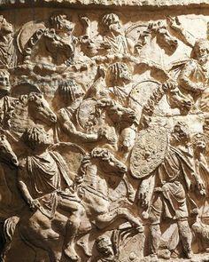 Roman civilization, Plaster cast of Trajan's Column, Mauritanian horsemen