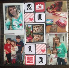 All You need is love scrapbook layout