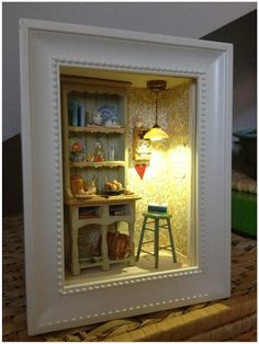 2smartminiatures: Dreaming of Sweden - A Miniature Dollhouse Room Box