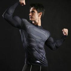 Fitness MMA Compression Shirt Men Anime Bodybuilding Long Sleeve Cross – myshoponline.com