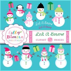 Let it Snow Clipart - great for your winter crafts and creative projects.