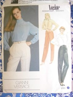 Vogue Pattern  2701   -   BILL BLASS   -      Size:  12    -    Uncut