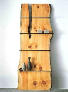 Okay, so yes, they are extremely expensive. But these shelves, made out of single slab of pine tree and glass, are worth checking out for the beauty of the design.