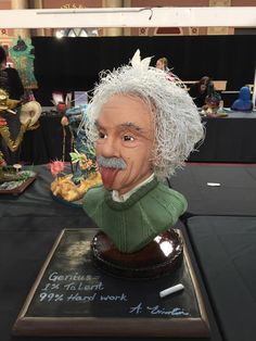 Einstein+Bust+-+Genius+in+cake!++-+Cake+by+Dawn+Butler+