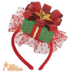 Amscan Fun-Filled Christmas and Holiday Party Gift Fascinator Piece), x Multicolor: You're looking quite present-able in our Christmas Gift Fascinator Headband! It's the perfect hair accessory for Christmas and holiday parties. Christmas Party Hats, Holiday Hats, Christmas Gifts For Men, Christmas Costumes, Christmas Fashion, Christmas Crafts, Christmas Decorations, Santa Christmas, Holiday Parties