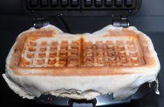 pizza made on a waffle iron.