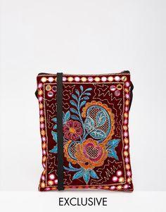 Image 1 ofReclaimed Vintage Floral Embroidered Mini Cross Body Bag