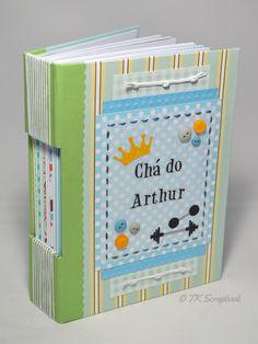 Caderno de mensagens com encadernação longstitch (visão geral da decoração e encadernação) #tkscrapbook