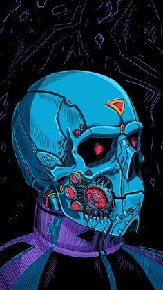 Cyborg Skull IPhone Wallpaper - IPhone Wallpapers