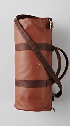 Brown Leather Boxing Duffle - Bags - Lifestyle