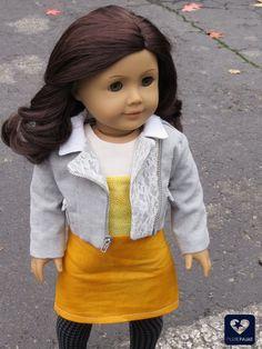 Candy corn dress for American Girl dolls. Cute Halloween craft/DIY