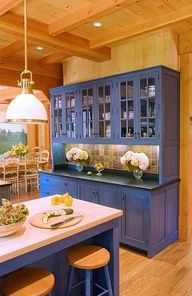 old fashioned blue kitchen - Google Search