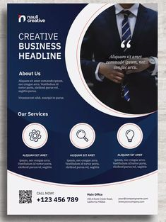 Corporate Business Flyer PSD and Vector by naulicrea on Envato Elements Poster Design Layout, Page Layout Design, Graphic Design Brochure, Corporate Brochure Design, Event Poster Design, Creative Poster Design, Corporate Business, Flyer Layout, Poster Designs