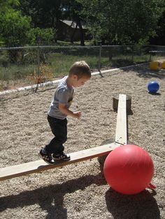 Balance Beam | natural playground | moving big | preschool playground | outdoor classroom | gross motor | large motor | play