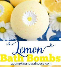 Lemon Bath Bomb | 12 DIY Bath Bombs | Bath Bombs Made Easy, see more at: https://diyprojects.com/diy-bath-bombs-bath-bombs-made-easy/