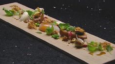 Slow Cooked Duck Egg with Roasted Duck Breast, Date Puree and Fried Shallots by Gary Mehigan