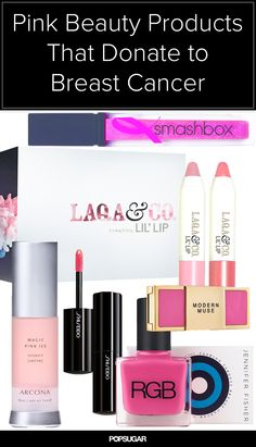 At least 20 percent of proceeds go to breast cancer organizations. Cancer Organizations, Beauty News, Beauty Secrets, Beauty Hacks, Breast Cancer Awareness, Makeup Inspo, Lip Gloss, Goodies, Sweet Like Candy