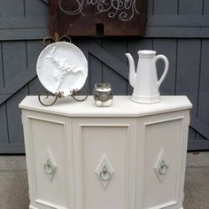 Vintage Entry Way Table or Cabinet, Upcycled, New Paint from Julies Box for $100.00