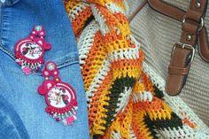 Japanese porcelain bead embroidery soutache earrings medium long gift for her #BeadEmbroidered #AnniversaryJewelry #JapaneseCherries #japanese #BeadEmbroidery #SoutacheEarrigs #soutache #PartyJewelry #geisha