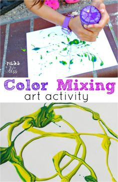 Fun Activities for Children: Color Mixing Art
