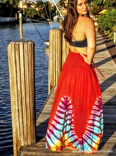 2Tie-Dye For! Candy Apple Red Maxi Skirt! TIE-DYE dresses#, Tie-Dye Tank-Tops#, Tie-Dye Rompers, Tie-Dye Maxi Skirts#, Tie-Dye Strapless Dresses#, Tie-Dye Cover-up Dresses# and Tie-Dye Bat-Wing Cover-Up Tops#, www.RooneyImports...