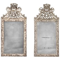 Pair of 18th Century Mirrors | From a unique collection of antique and modern wall mirrors at https://www.1stdibs.com/furniture/mirrors/wall-mirrors/