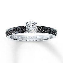 Diamond Engagement Ring 5/8 ct tw Round-Cut 14K White Gold $1649