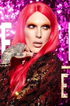 Jeffree Star: Serving you Extraterrestrial Glamour realness 👽💖 lipstick: . Jeffree Star Instagram, Jeffree Star Tattoos, Rupaul Drag Queen, Star Makeup, Artists And Models, Best Face Products, Beauty Products, Pink Hair, Playing Dress Up