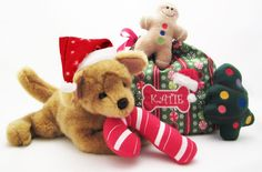 Puppy Xmas Toys  Adorable Assortment by bowwowWOWBoutique on Etsy, $25.00