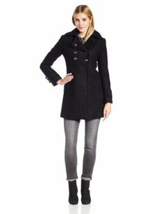 Kenneth Cole Women's Double-Breasted Wool Boucle Coat