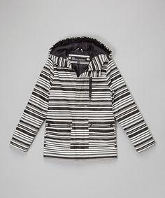 Monochrome stripe raincoat for boys or girls £11.99