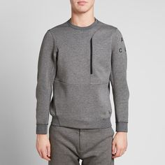 NikeLab ACG Tech Fleece Crew (Carbon Heather)