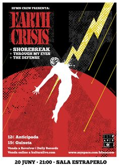 Earth Crisis show, poster design by mikiedge. Firestorm!
