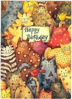 All cats happy birthday