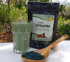 Spirulina granulada, ideal para adicionar em sucos e smoothies